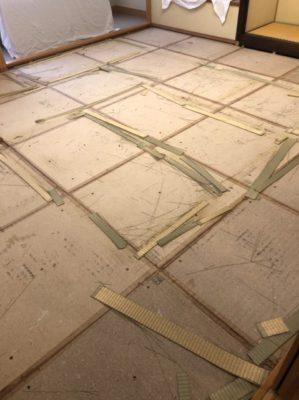 ランハート(株)・畳上げ後・掃除・床板