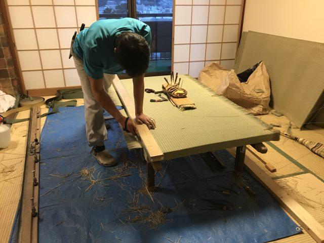 ランハート株式会社・現場作業・湯宿一番地・表替