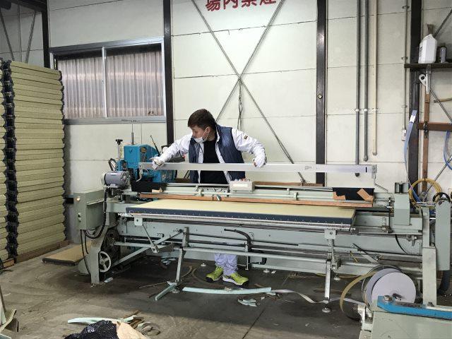 ランハート(株)・梅園工場・畳表替・新畳・作業風景