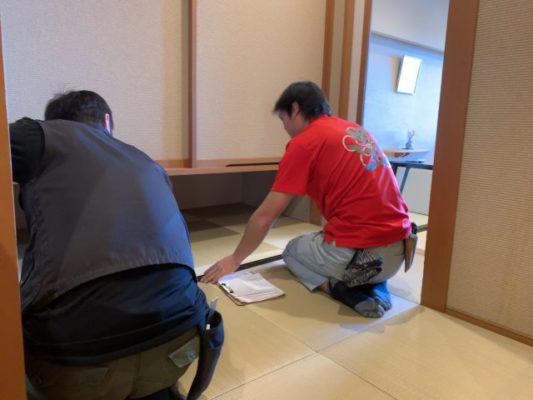 ランハート(株)・ヘリなし畳・旅館・新畳・寸とり
