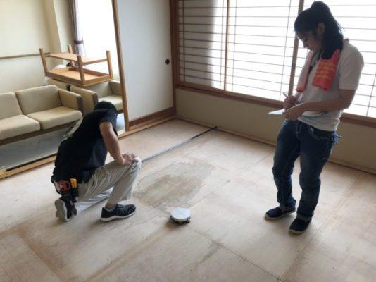 ランハート株式会社・寸取作業・ホテル・レーザー・新畳