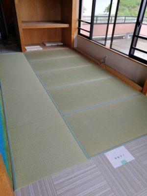 ランハート株式会社・新畳・ホテル施工・現場・敷き込み